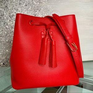 Tory Burch Thea Leather Bucket Crossbody Bag